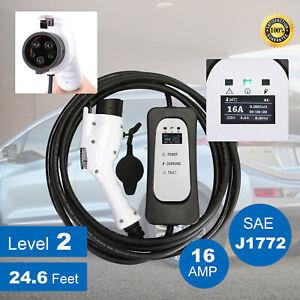 Image Is Loading Evse Electric Vehicle Charger Ev Level 2 220volt