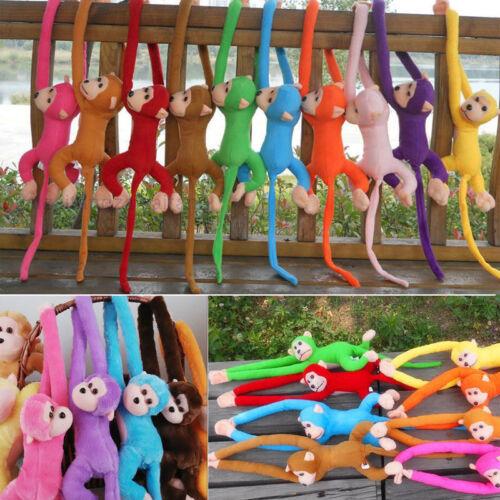 Colour Long Arm Monkey Hanging Soft Plush Doll Stuffed Animal Toys Kids Baby BT