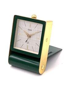 Pendulette-reveil-mecanique-de-voyage-JAEGER-2-days-Vintage-mechanical-clock