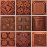 Antique Copper Styrofoam 20x20 Tin Look Ceiling Tiles Different Patterns