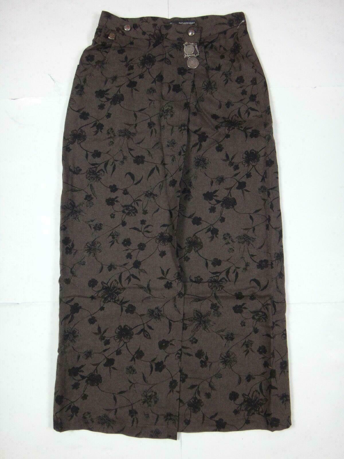 12601 Womens Skirt Hammerschmid Size 38 Brown; Button