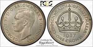 Australia-1937-Crown-PCGS-MS63-lot-0354