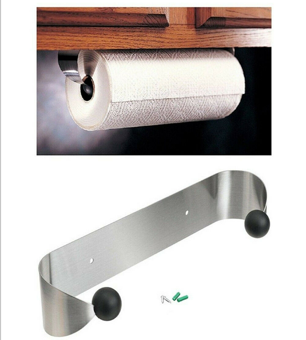 Details About Stainless Steel Kitchen Paper Towel Holder Under Cabinet Wall Mount Rack