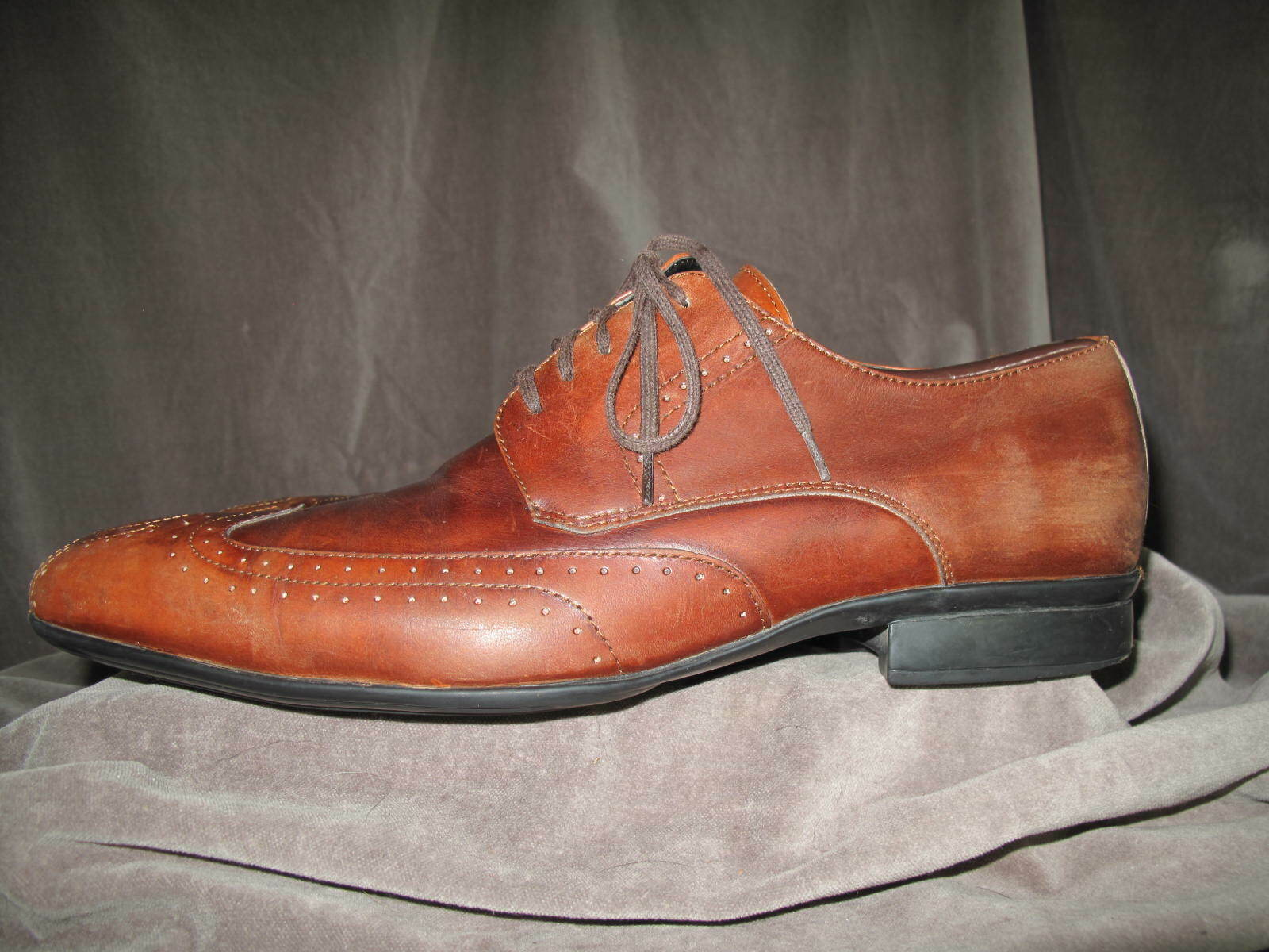KENNETH COLE Men's Mortgage Rate Le Burnished Brown Oxfords 11M