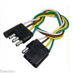 trailer wiring harness 4 way pin flat 240