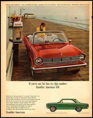 Vintage Rambler 440 Hardtop Ad Photo Keychain Gift AMC American Motors