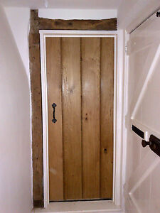 Solid oak ledged doors internal doors oak ledge / ledge braced doors.