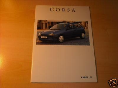 10671) Opel Corsa B France Prospekt 1996 Dauerhafte Modellierung