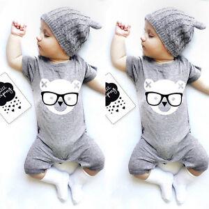 9cc40de7206 Cute Newborn Infant Baby Boy Girl Romper Jumpsuit Bodysuit Clothes ...