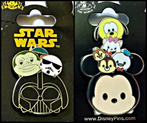Disney Parks 2 Pin Lot TSUM Star Wars pull up Mickey and friends