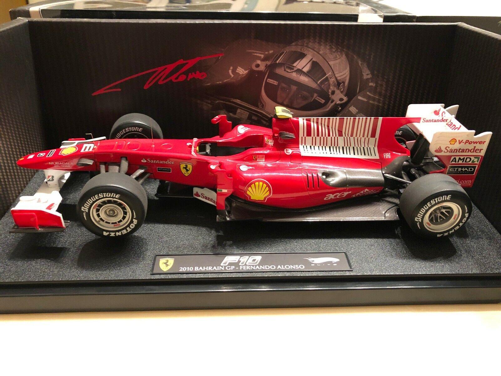 venta directa de fábrica Ferrari F10 Fernando Fernando Fernando Alonso 2010 Bahrein GP ganador 1 18 escala por Hotwheels Elite  precio al por mayor