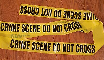 """POLICE LINE DO NOT CROSS TAPE 100 FEET 3/"""" WIDE CRIME SCENE CSI FBI"""
