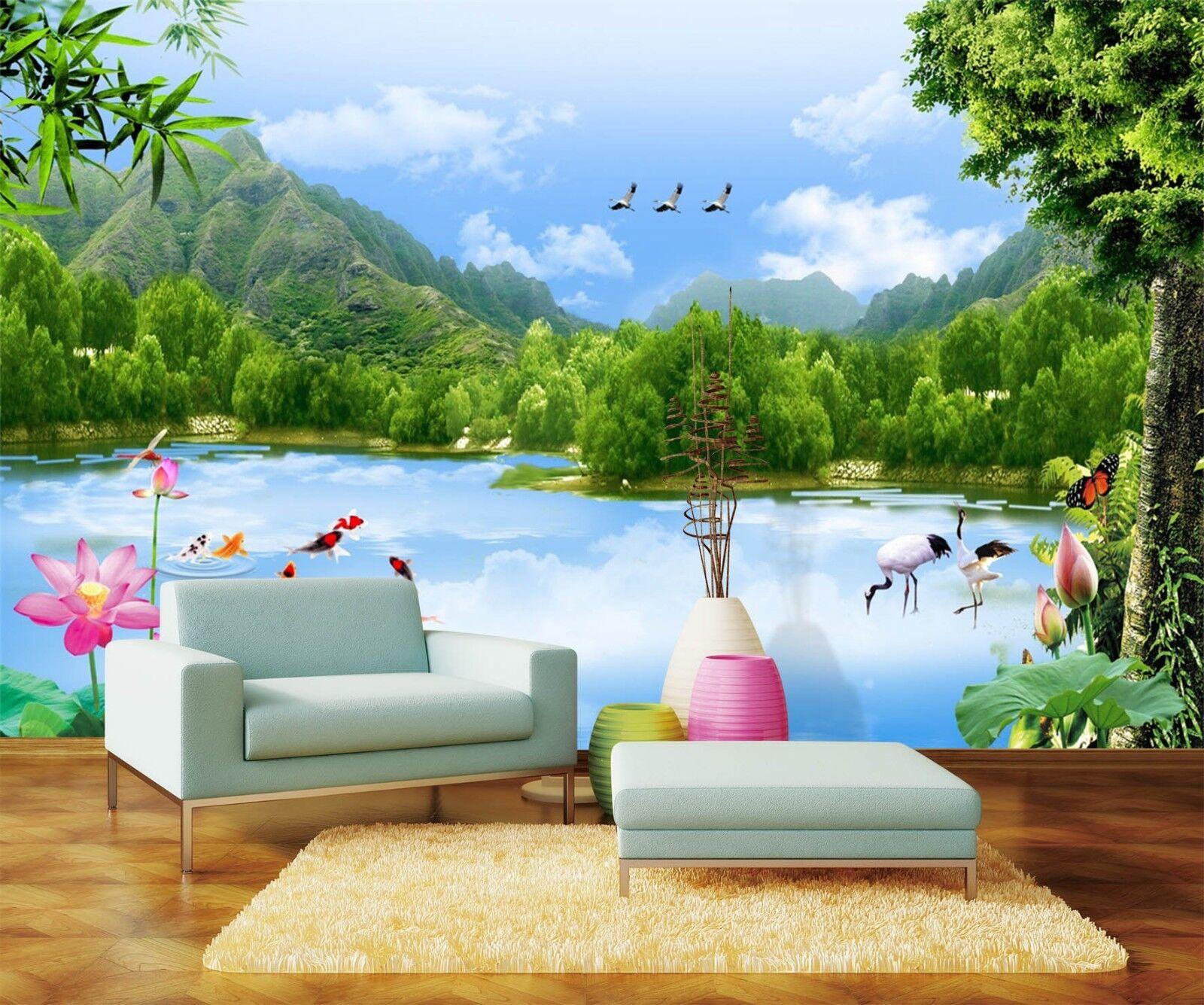 3D Landschaftshimmel 566 Tapete Tapeten Mauer Foto Familie Tapete Wandgemälde DE