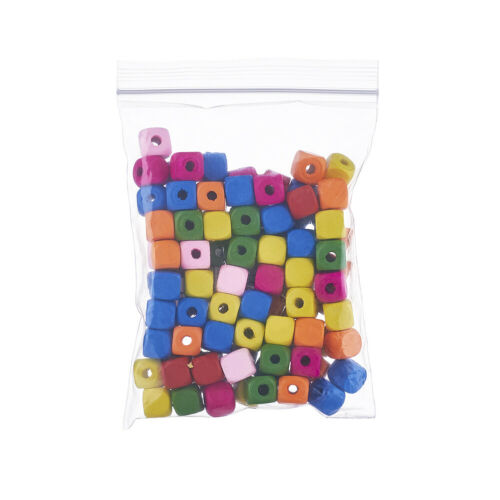 100pcs Dyed Mini Cube Wood Beads Loose Beads Spacer Craft Jewelry Making 10x10mm
