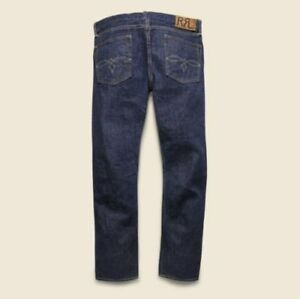 new-RRL-LOW-STRAIGHT-INDIGO-ONCE-WASH-SELVEDGE-DENIM-JEANS-double-rl-american-w