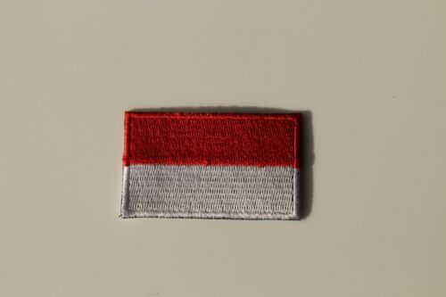 Monaco National Flag Embroidered  Iron on Sew On Patches Badges 3.5x6cm