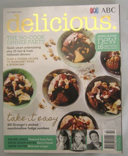 ABC Delicious Magazine October 2012 Issue 120 Jamie's Best Ever Burgers