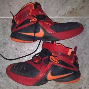 new product a71d3 d640c Image is loading NIKE-LEBRON-JAMES-SOLDIER-9-SHOES-BOYS-SIZE-