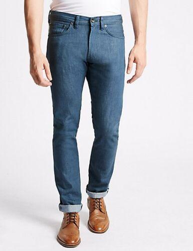 """Marks /& Spencer M/&S Calce ajustado Para hombres Orillo Blue Jeans Cintura 44/"""" pierna 29/"""" 31/"""" 33/"""""""