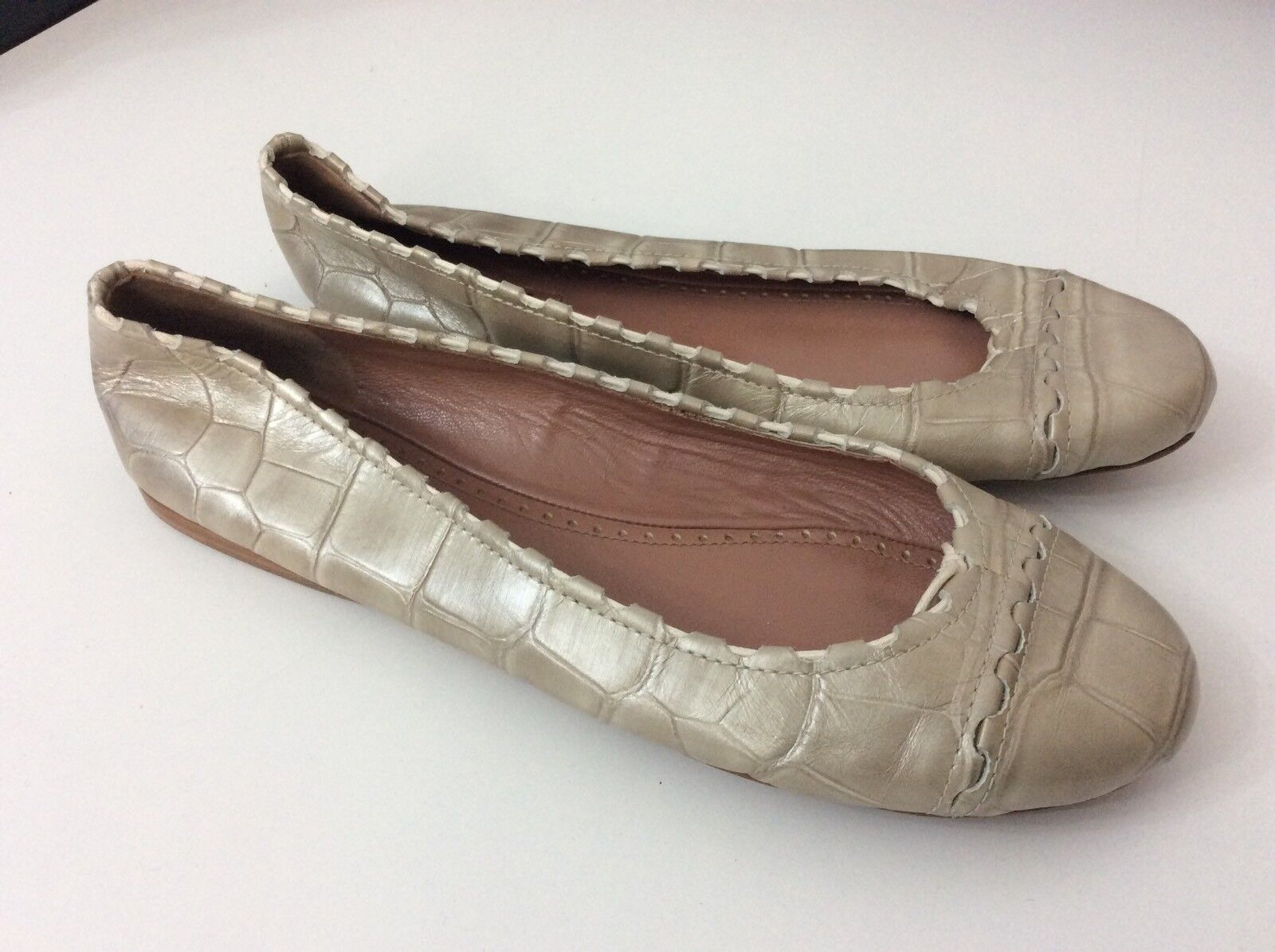 ALAIA Schuhes Paris new Ballerinas Schuhes ALAIA Flats Gold Metallic Bnwob Größe 37 Uk 4 Rrp bd7e39