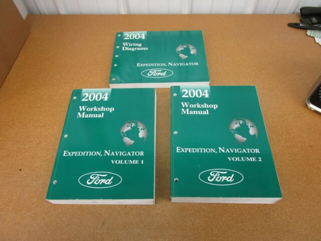 2004 Ford Lincoln Expedition Navigator service shop manual ...