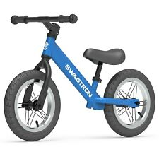 "Swagtron K3 12"" No-Pedal Balance Bike for Kids Ages 2-5 Air-Filled Rubber Tires"