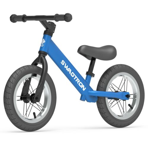 """Swagtron K3 12/"""" Balance Bike for Kids Ages 2-5 No-Pedal Air-Filled Rubber Tires"""