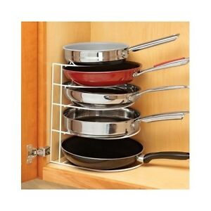 kitchen cabinet organizers for pots and pans kitchen pan organizer pantry frying pans storage rack 9652