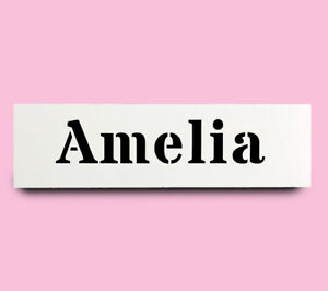 Details about AMELIA STENCIL girls name 30mm tall 147mm wide ALPHABET  STENCIL LETTER Lettering