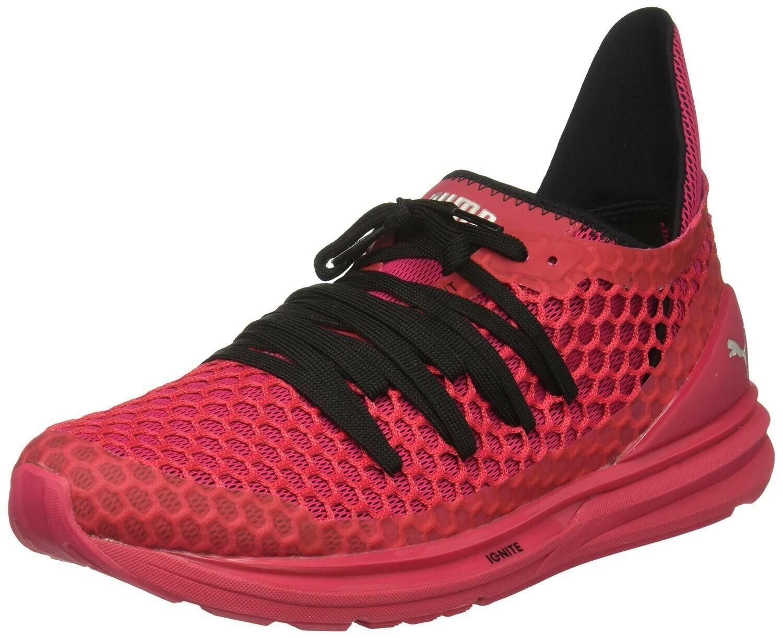 NEW PUMA IGNITE Sz 9.5 LIMITLESS NETFIT scarpe da ginnastica ginnastica ginnastica donna scarpe rosso SLIVER 189984 d0c4db