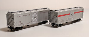 HO-True-Line-Trains-CP-Express-40ft-Box-Cars-Set-of-2-4905-amp-4907-w-Couplers