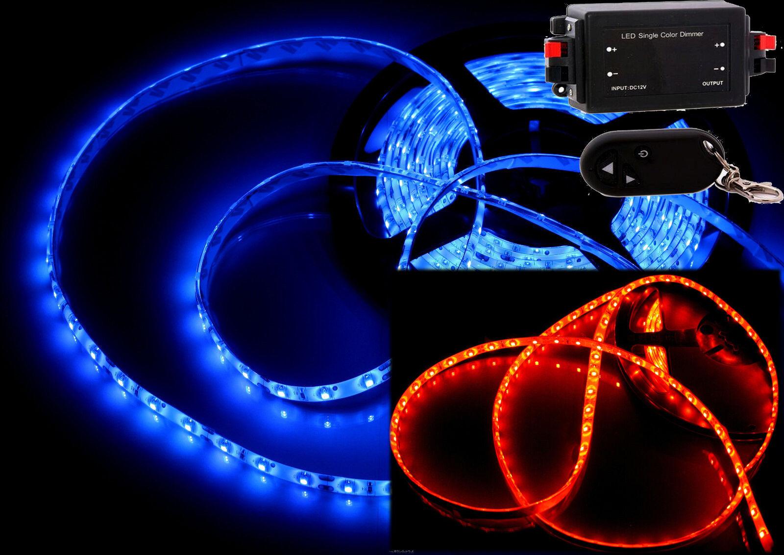 0,5m - 10m rojo azul barras strip LED SMD 24v dimmer camión camión interior ip65