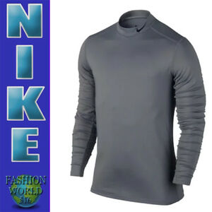 614597f9 Nike Men's Size Large Hyperwarm Base Layer Fitted Mock Training Top ...