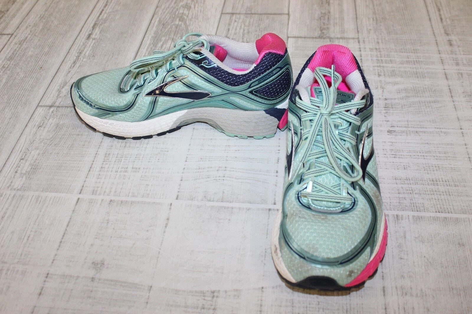 Brooks Adrenaline GTS 16 Running Shoes - Women's Size 7.5 B, Navy/Pink/Mint