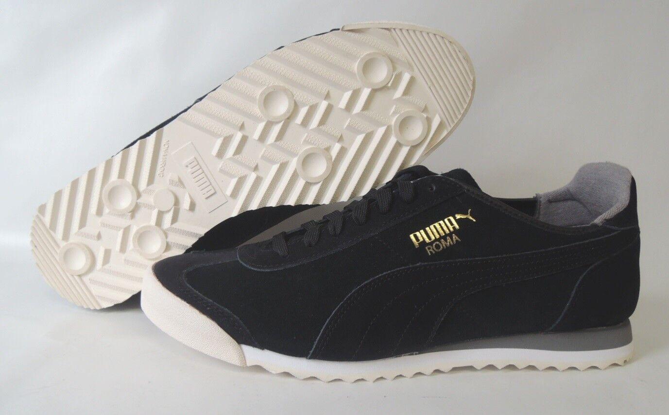 NEU Puma Roma OG Leather Gr. 44,5 Herren Retro Sneaker Schuhe 361320-02 BLACK