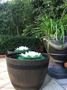 Sold Out 1 X Half Wine Barrel Plant Pot Watertight Pond Fish Tank