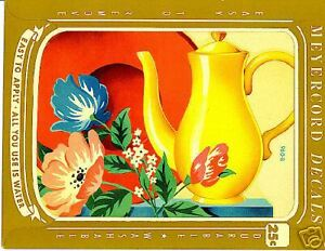 Vintage Water YELLOW COFFEE POT, PLATE, FLOWERS
