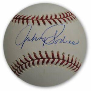 Johnny-Podres-Hand-Signed-Autographed-MLB-NL-Baseball-Brooklyn-LA-Dodgers-Bue