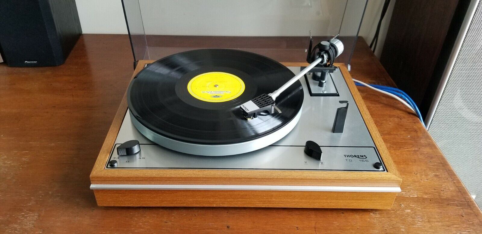 Thorens TD166 Turntable with Dust Cover and Shure M95ED  Vintage Working Tested. Buy it now for 570.00