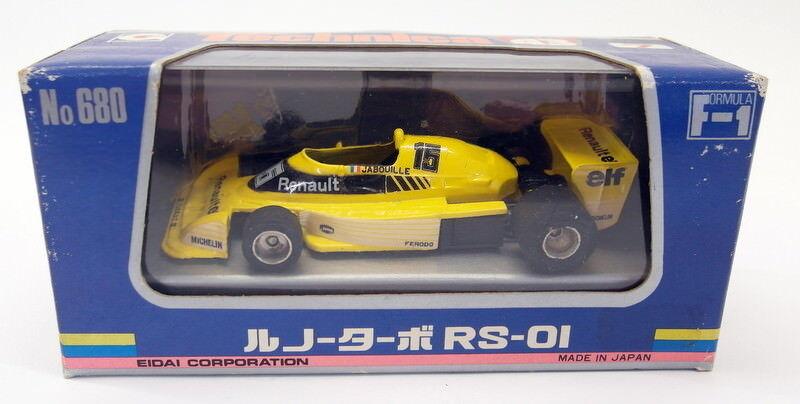Technica 1 43 scale Vintage diecast - NO.7 Renault Renault Renault Turbo RS-01 Jabouille 58722a