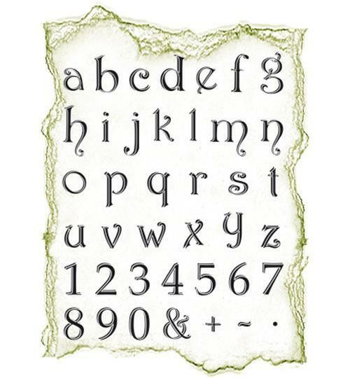 Viva Decor Silikon Stempel SET Alphabeth klein, clear stamps,4003 046 00