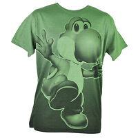 Super Mario Yoshi Nintendo Video Game Dots Green Graphic Tshirt Tee