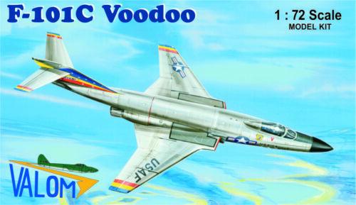 1//72 model kit, Valom 72095 81 TFW USAF F-101C Voodoo in 91 TFS