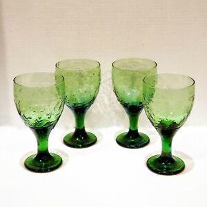 Libbey-Garden-Vine-Set-Of-4-Green-Goblets