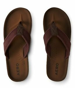 Aeropostale-Men-039-s-Solid-Canvas-Flip-Flop-Classic