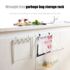 Details about Hanging Kitchen Cabinet Door Trash Rack Towel Storage Garbage  Rag Bags Holder/