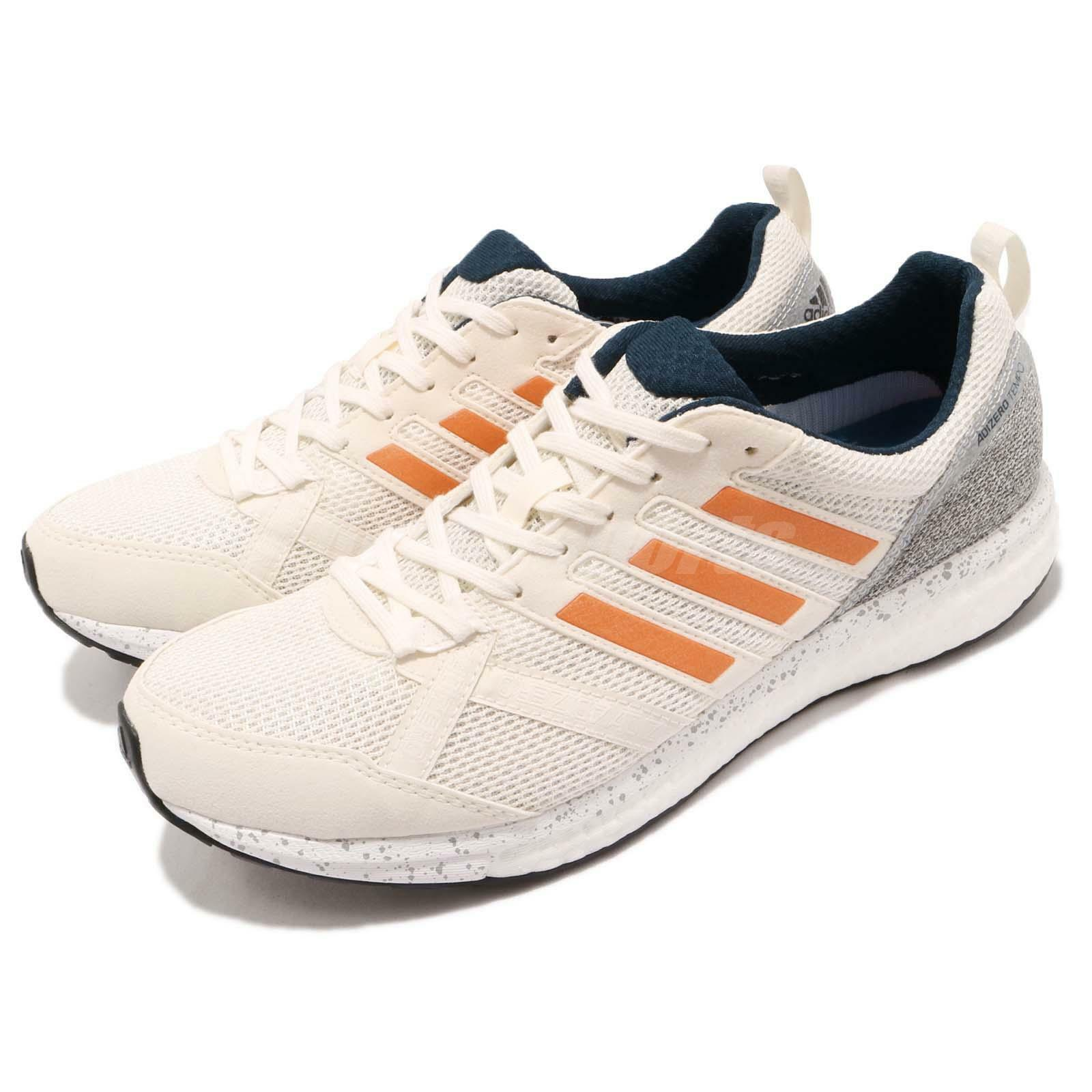 Adidas Adizero Tempo 9 9 9 M Boost Off White Hi Res orange Men Running shoes BB6433 59a953
