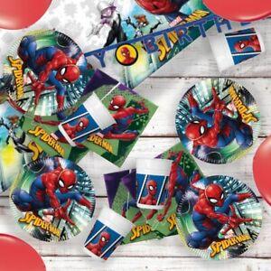 1 C MARVEL SPIDERMAN TEAM-UP Fête D/'Anniversaire GAMME Vaisselle Fournitures Décorations