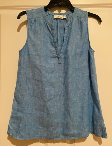 Women's VINEYARD VINES LINEN CHAMBRAY Sleeveless T