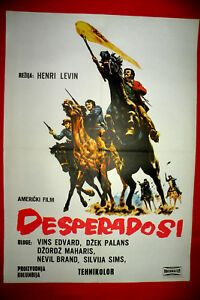 Desperados 1969 Jack Palance Vince Edwards Sylvia Syms Exyu Movie Poster Ebay